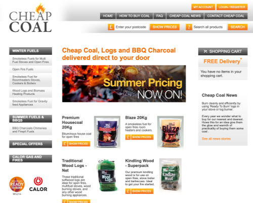 Old Cheap Coal website homepage