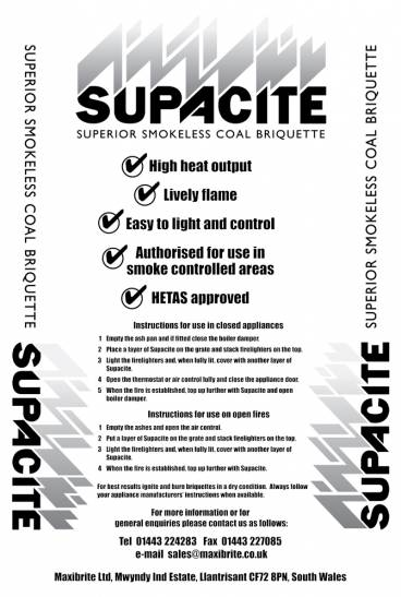 Supacite pack info