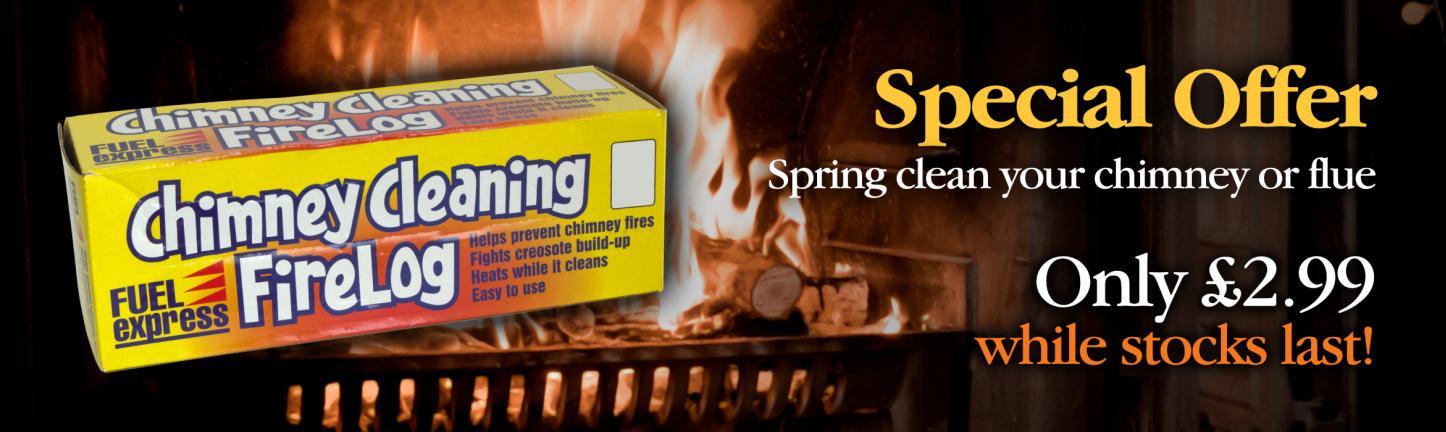 Chimney cleaning firelog offer