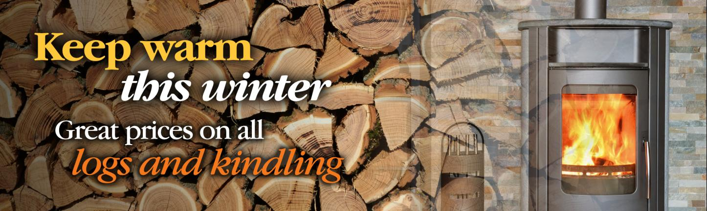 Fire wood, kiln dried logs and kindling